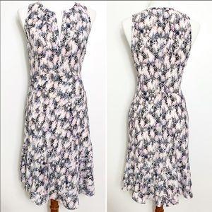 Rebecca Taylor Abstract Print Sleeveless Dress